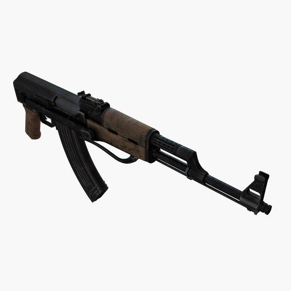aks rifle 3d 3ds