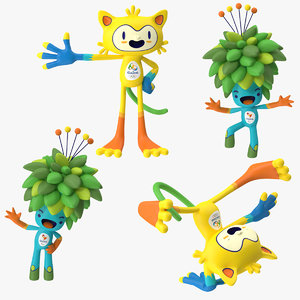 3d max 2016 olympics mascots vinicius