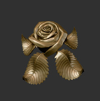 rose sculpture 3d obj