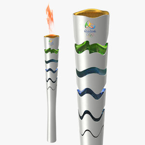 3d 2016 olympic torches