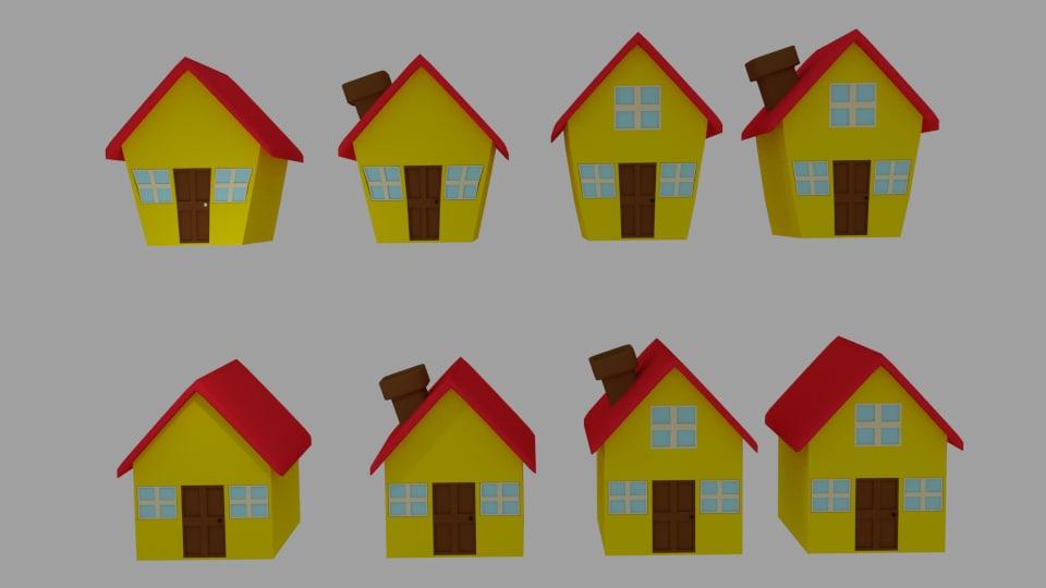 3ds cartoon house