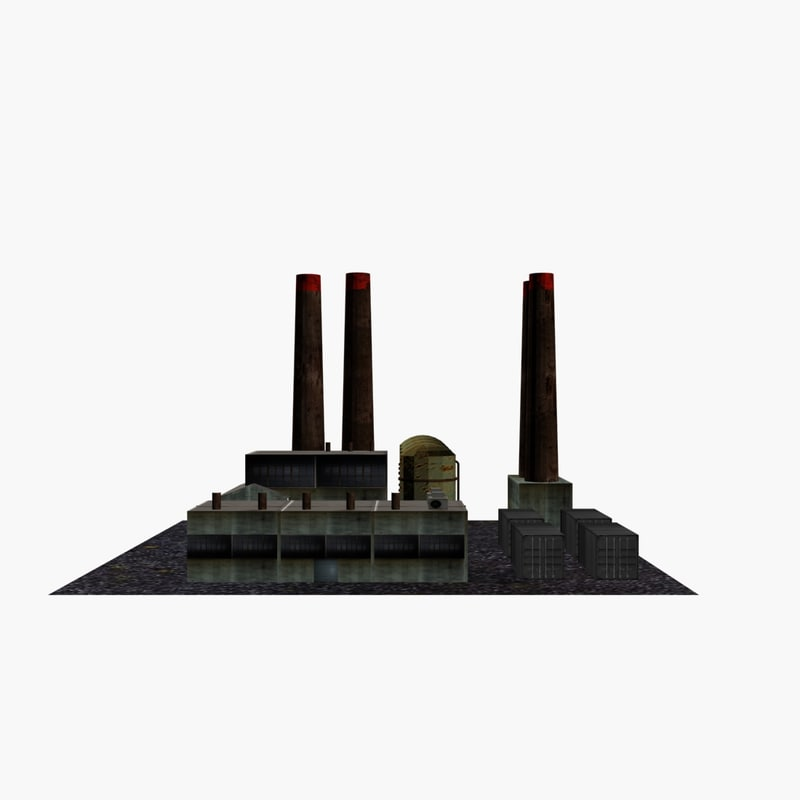 factory buildings 3d model