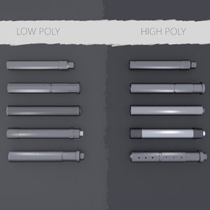 3d model pack silencers
