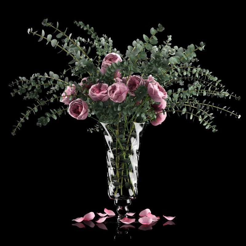 roses eucalyptus flowers plants max