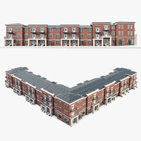 3d residential complex model
