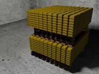 gold bullion c4d free