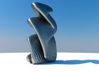 sculpture modern c4d