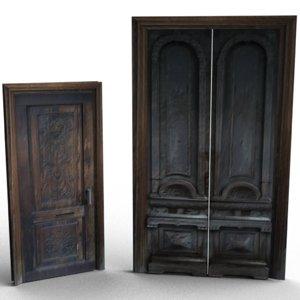 3d model low-poly doors