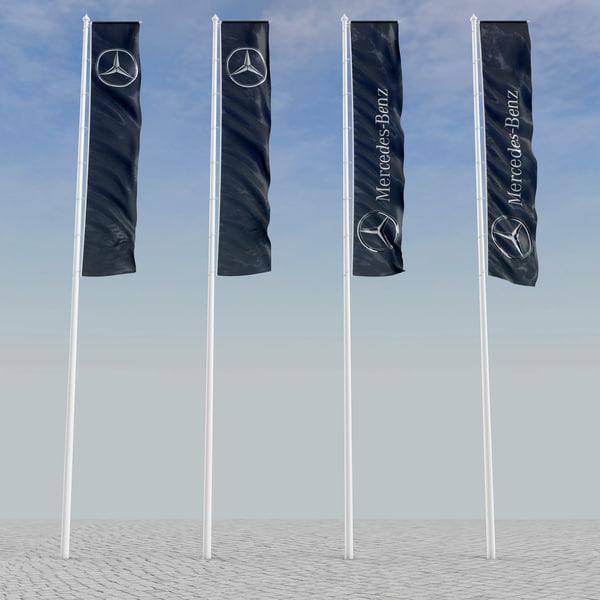 3d model flagstaff flags