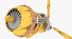 jet engine 3d obj