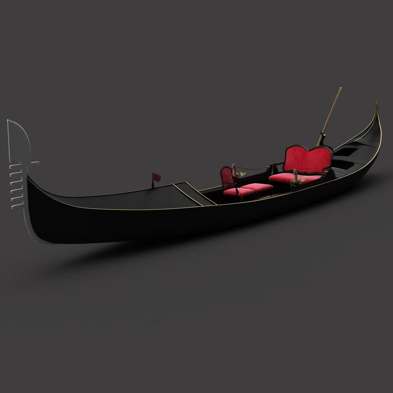 3d model venetian gondola