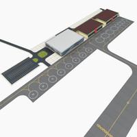 modern regional airport 3d model