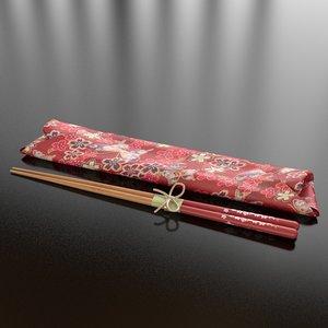 3d 13 japanese chopsticks model