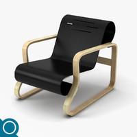 alvar aalto 41 chair designer 3d model