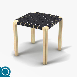 alvar aalto y61 chair designer 3d model