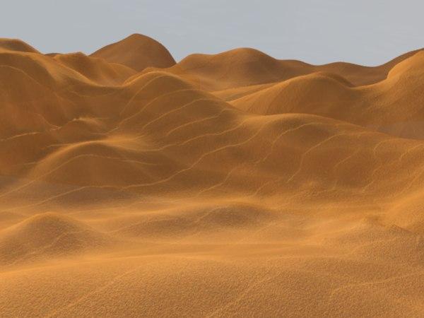 3d sand dune landscape model