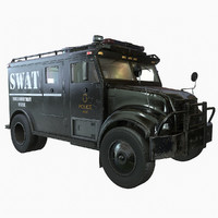 SWAT Van - Game Ready