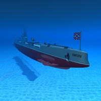 submarine panther 3d model