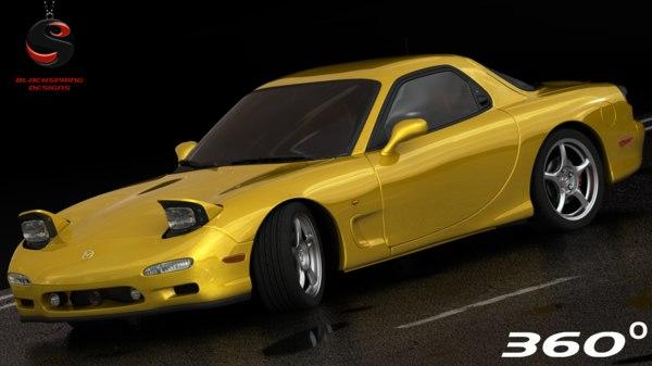 mazda rx-7 1997 interior 3d model
