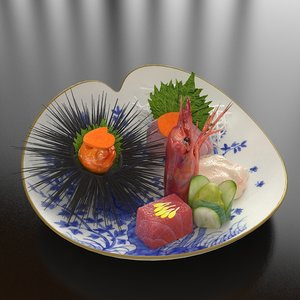 3d 22 japanese seafood combine