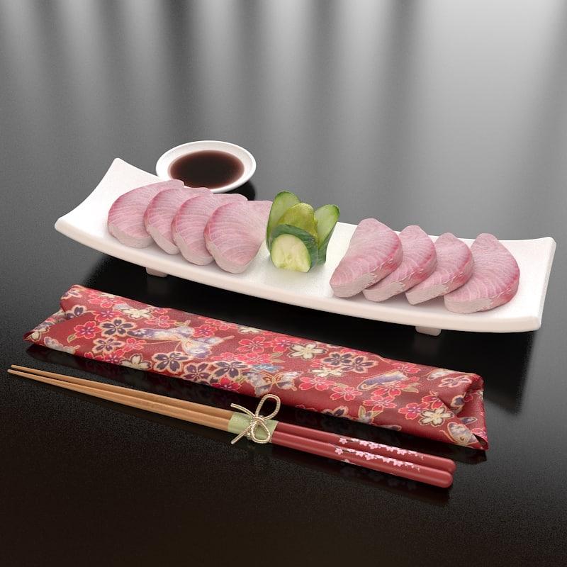 27 hamachi sashimi 3d max