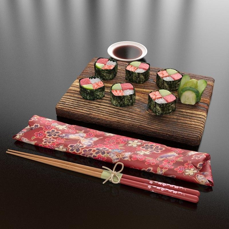 max 28 tuna salmon sushi