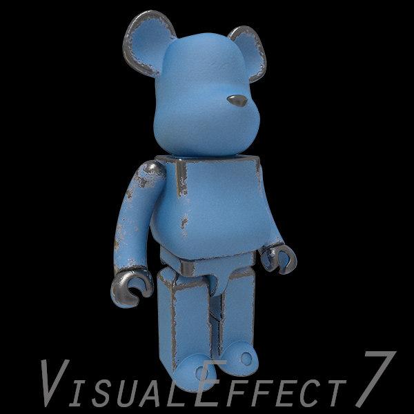 blue bearbrick brick 3d model