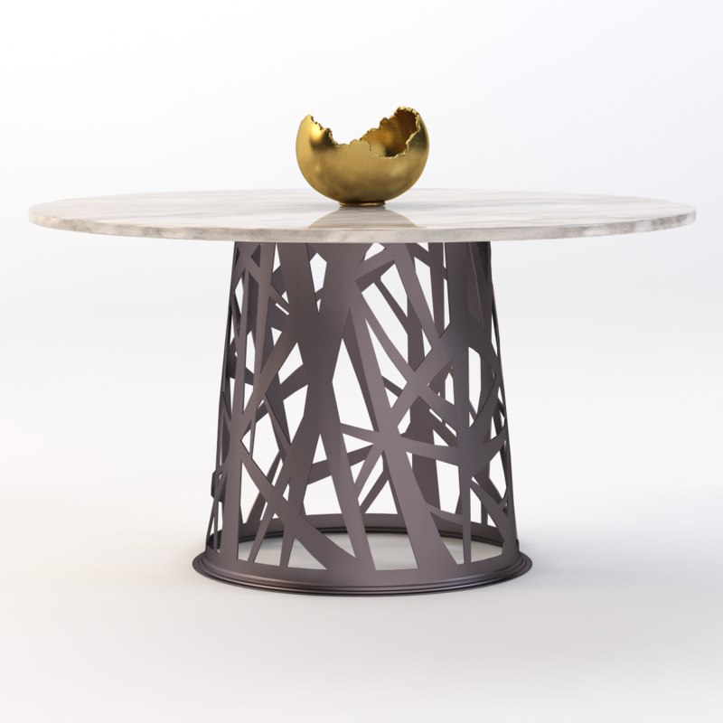 3d table bowl model