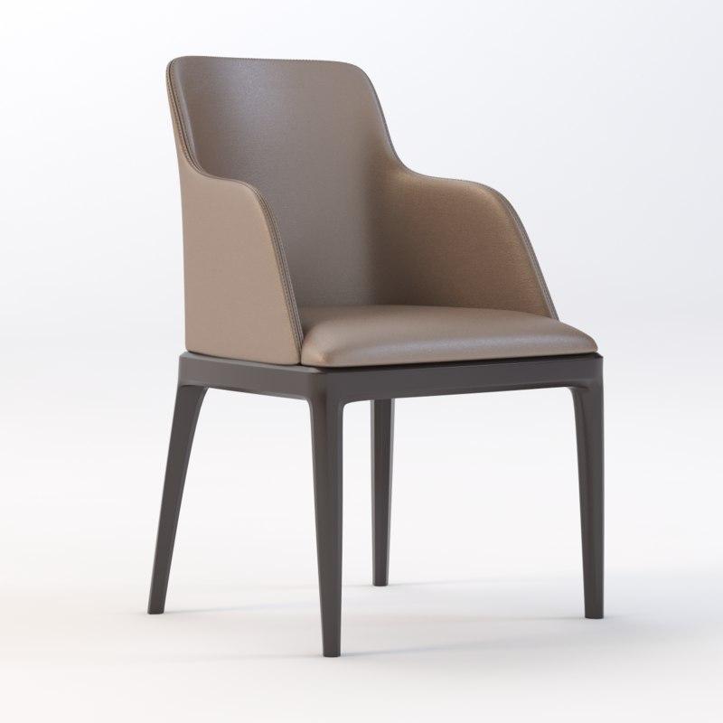 3d chair grace poliform model