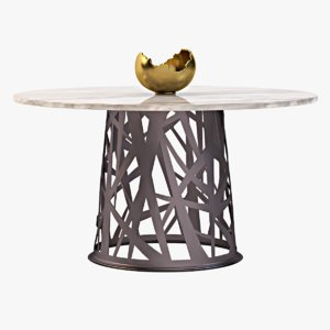 3d table bowl model