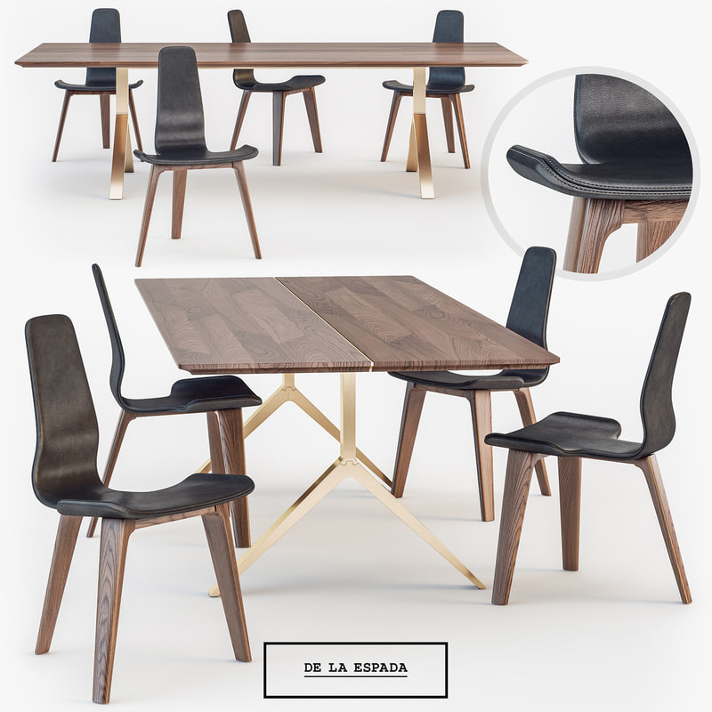 la espada overton dining table 3d max
