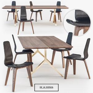 la espada overton dining table 3d max