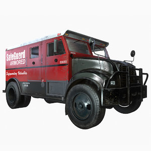 ready armored truck 3d model