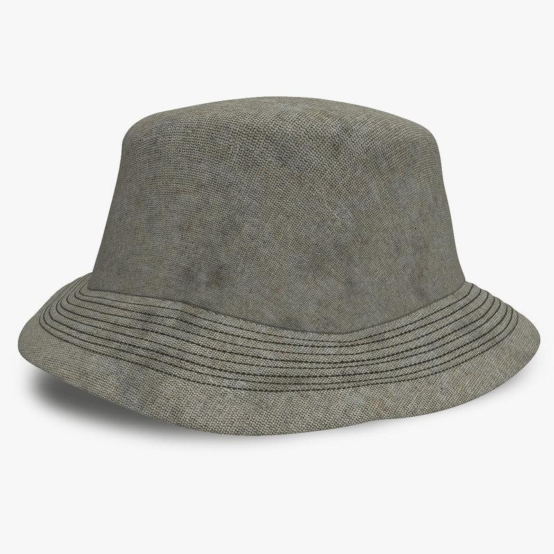 3d dirty peasant hat