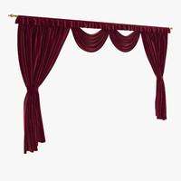 classic curtain rod 3d max