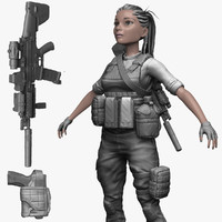 female soldier militant zbrush 3ds