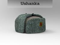 3d model ushanka