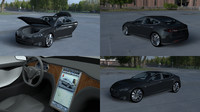 3d model of tesla s interior modeled