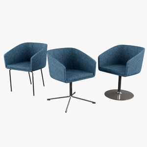 cabin armchair chair 3d max
