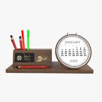 wooden desktop calendar max