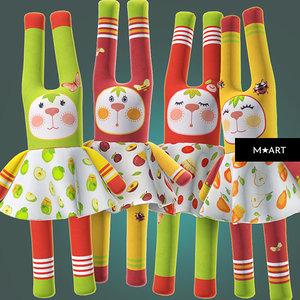 3d bunny toys