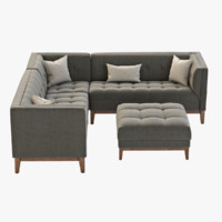 Gus Modern Atwood  Corner Sectional Sofa