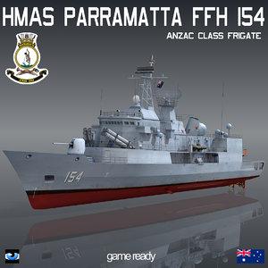 anzac class parramatta ffh 3d 3ds