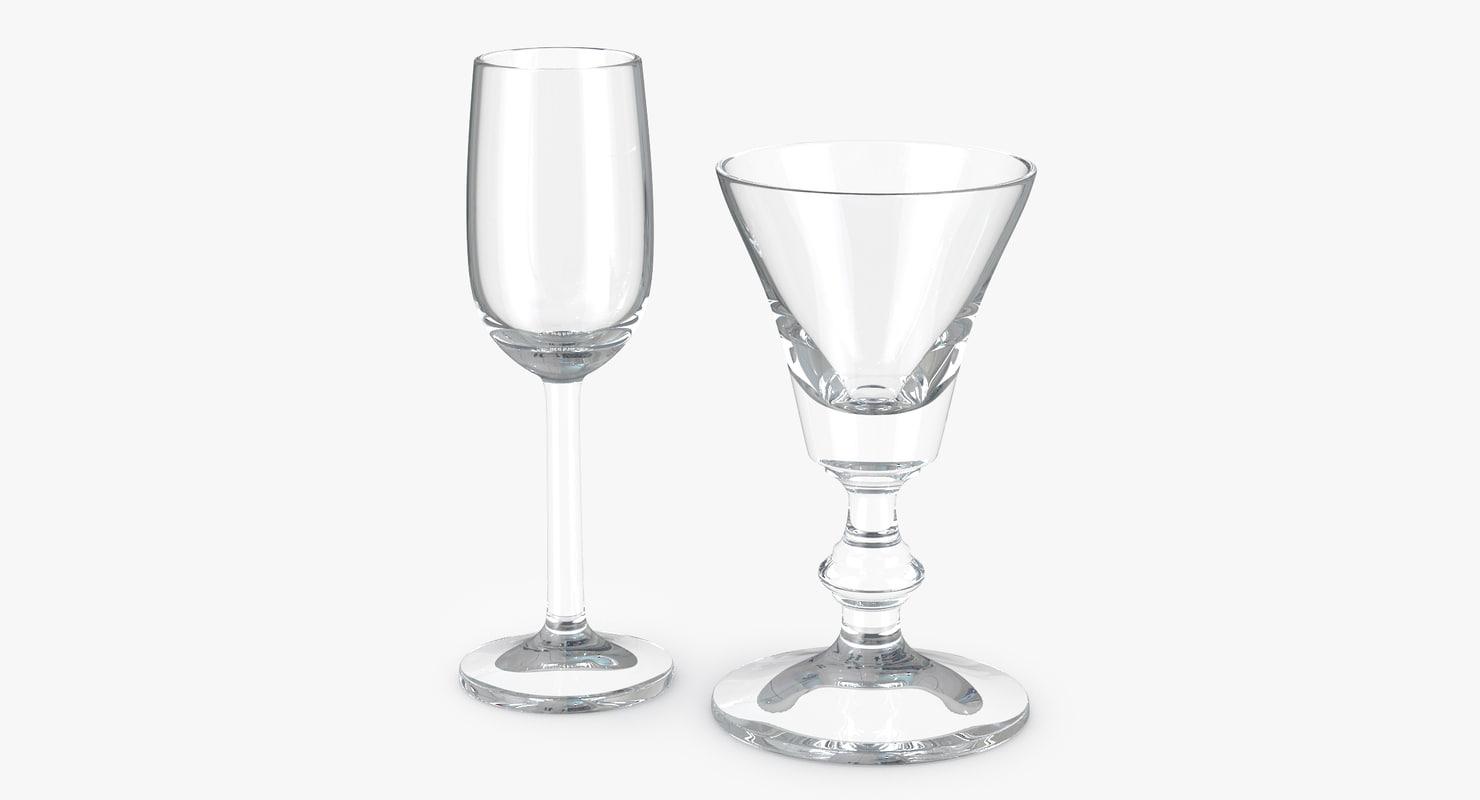 glass liquor sherry vermouth 3d model