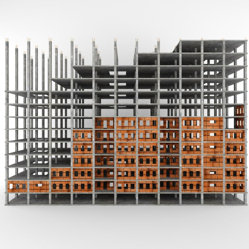 construction building 3d model