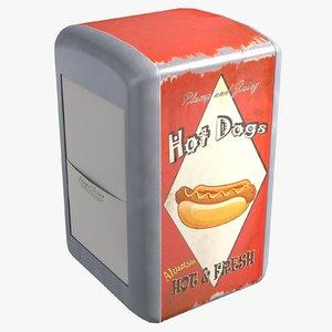napkin dispenser 3d model