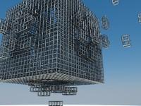 cube explotion 3d model