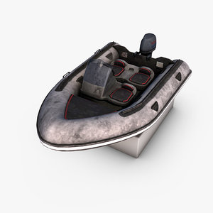 3d model motorboat photorealistic