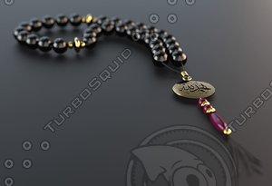 3d islamic rosary model