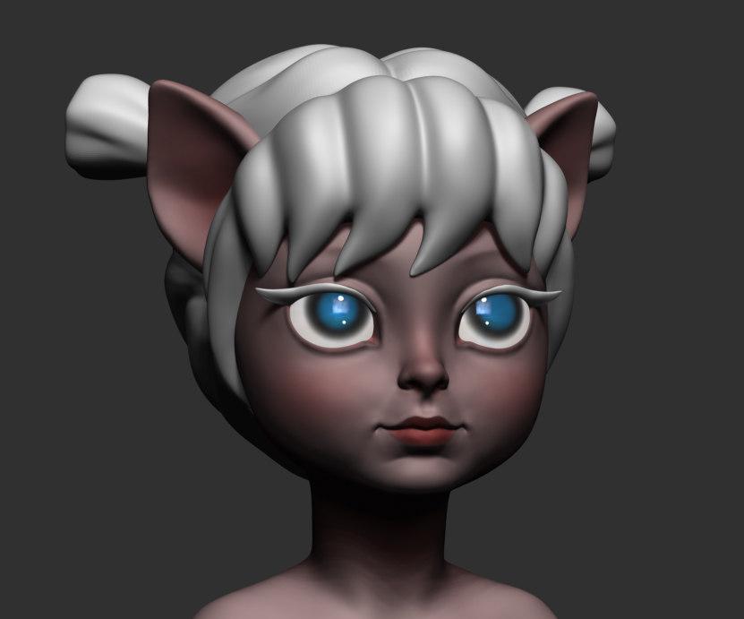 fantasy character 3d obj